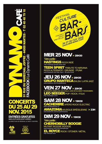 Manteca @ Le Dynamo Culture Bar-Bars 26 Novembre 2015 Nantes Salsa y Latin Jazz